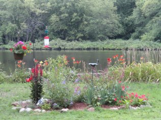 Original hummingbird garden, built spring 2013.