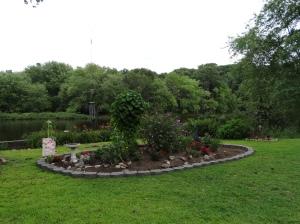 New and improved hummingbird garden, circa 2014.