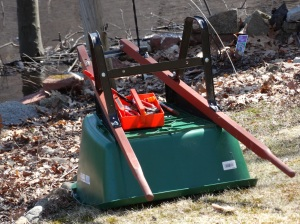 Before beginning work on Sparky Park, the wheelbarrow needed fixing.