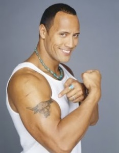 The Rock, before steroids?!