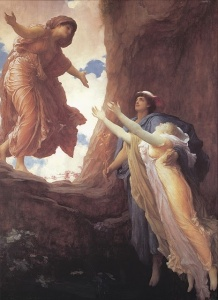 Return of Persephone-Lord Leighton-Hades-Hermes
