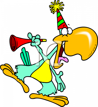 0511-0810-3119-1746_Cartoon_of_a_Bird_at_a_Party_clipart_image