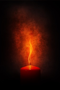 fire-red candle-flame-red-scarlet