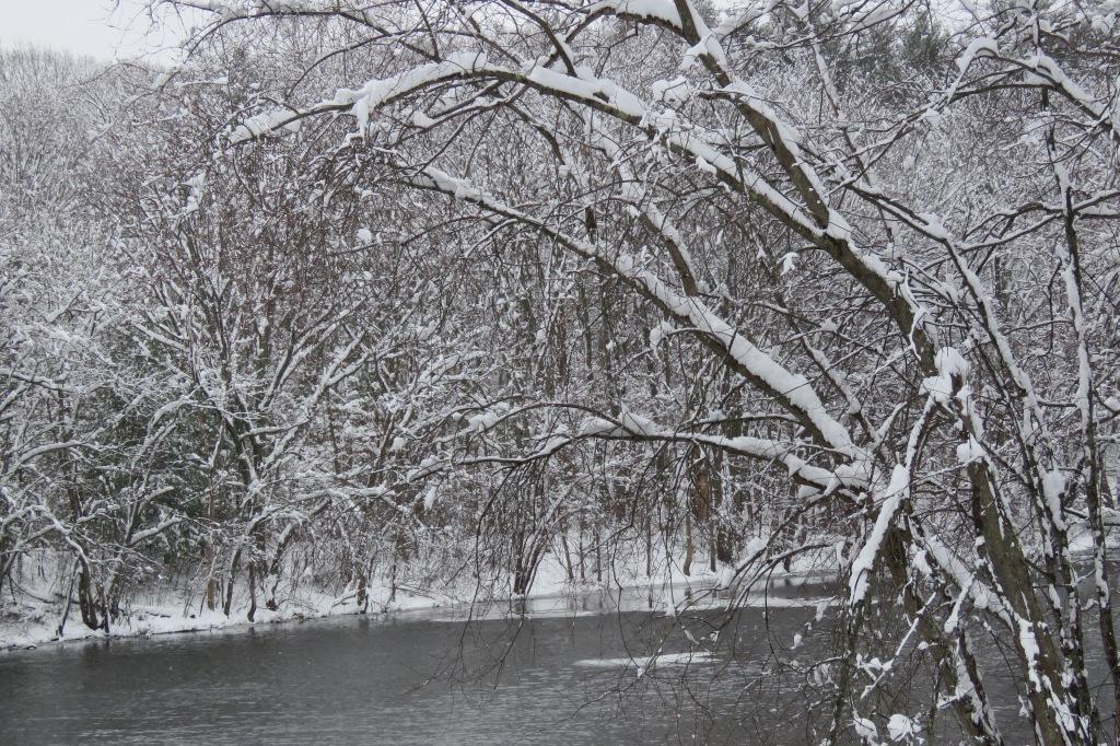 Concord river - snow